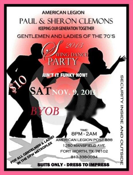 Paul Sheron Clemons 70 S Swing Dance Party Dfw Swing Dance