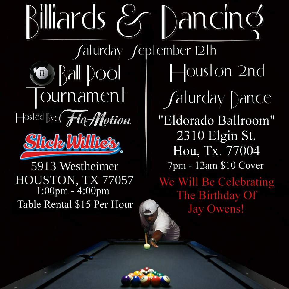 2nd Saturday Poets 2: 2nd Saturday Dance Presents Billards And Dancing