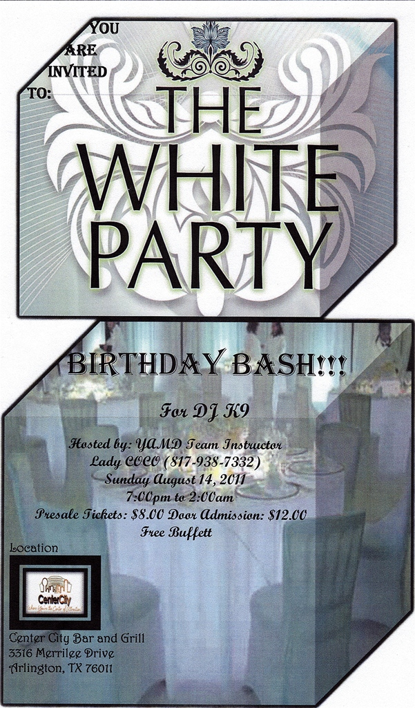 The White Party and Birthday Bash for DJ K-9 » DFW Swing Dance