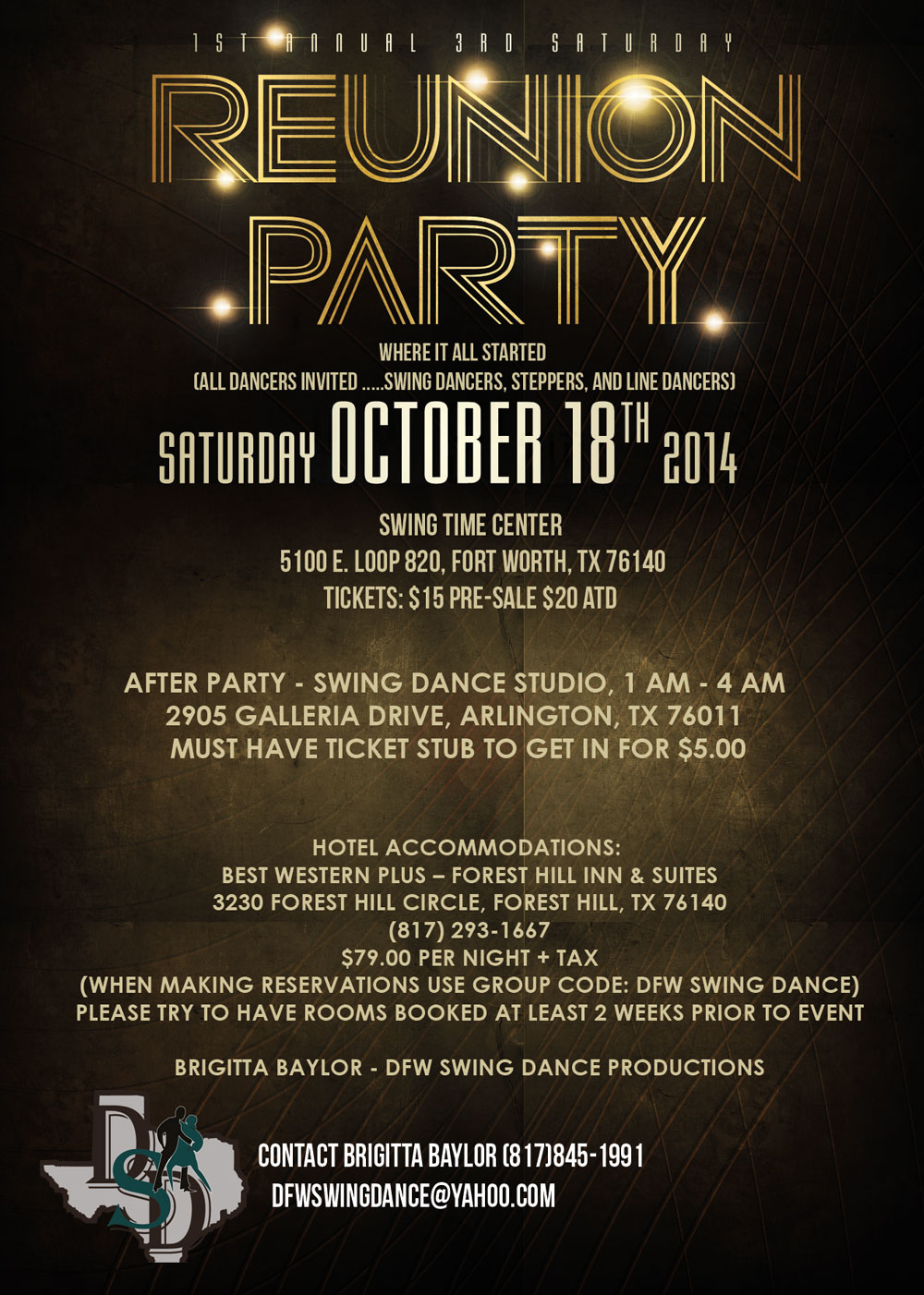 Dfw Swing 1st Annual 3rd Saturday Reunion Party Oct 18th